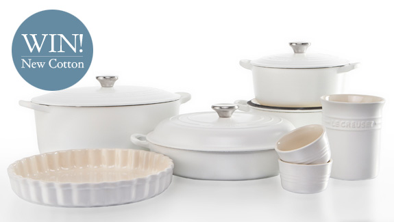 Win items from the new Le Creuset Cotton Range
