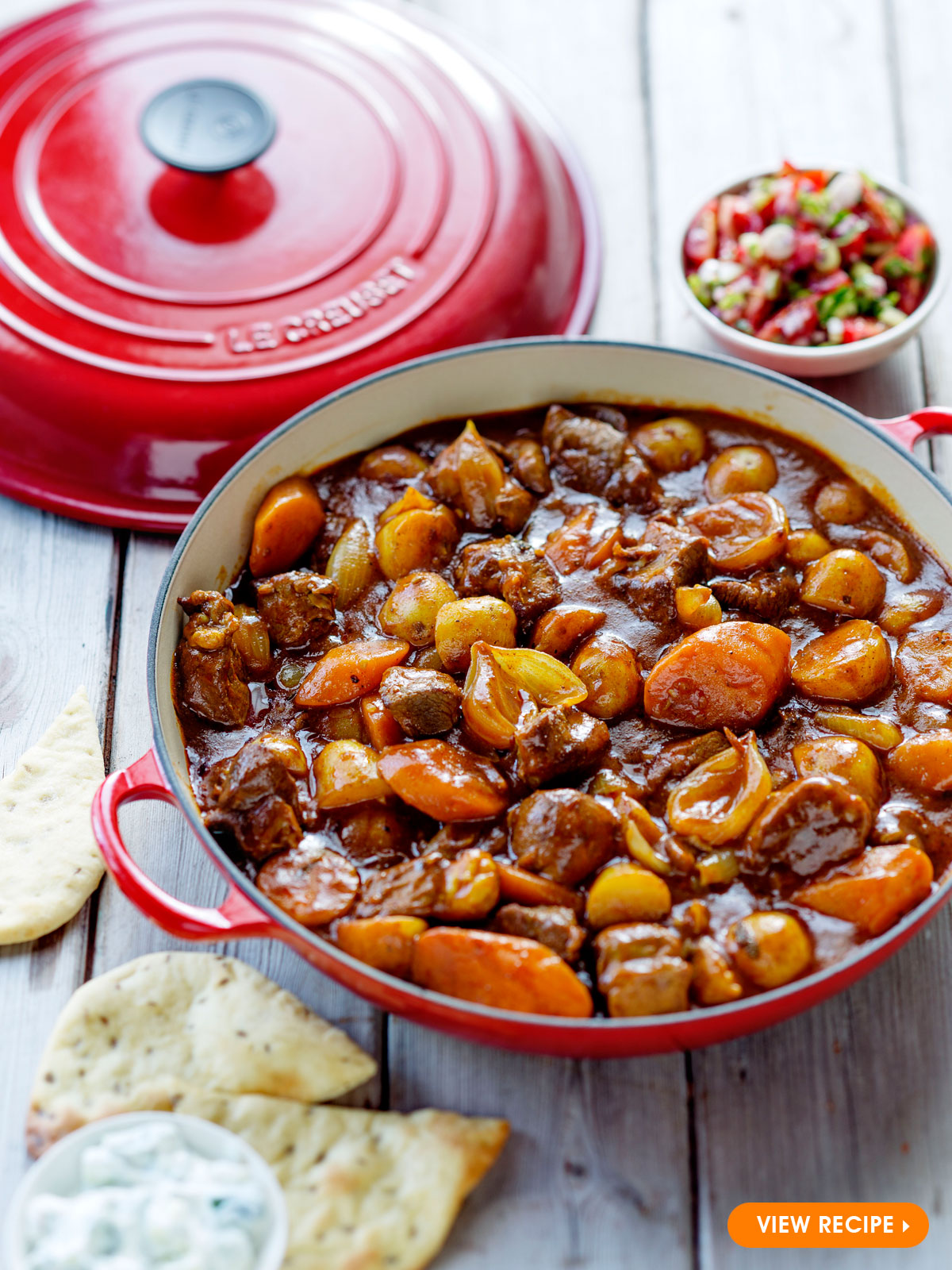 Lamb Curry With Naan Bread Le Creuset Recipes