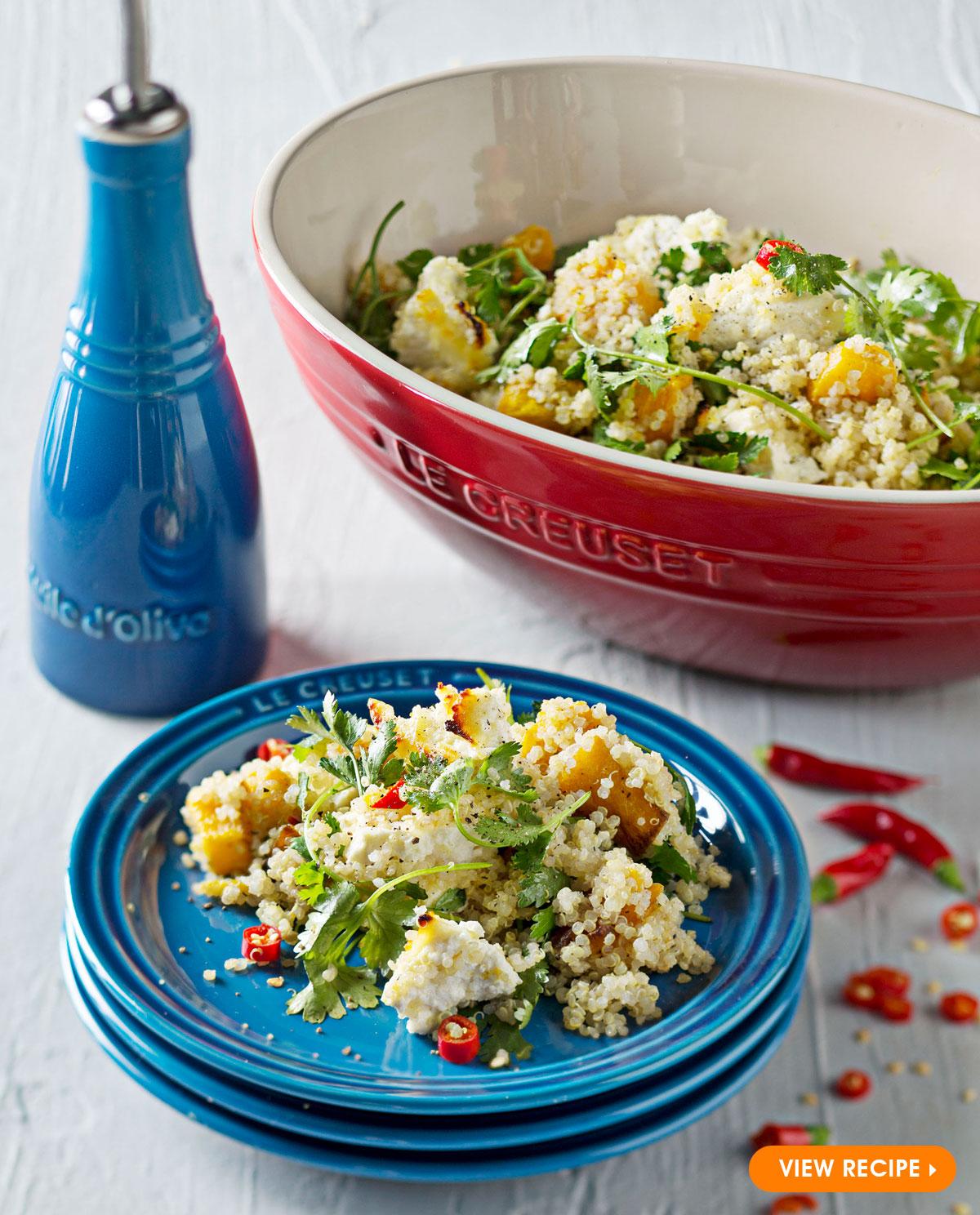 Pumpkin and baked ricotta quinoa salad