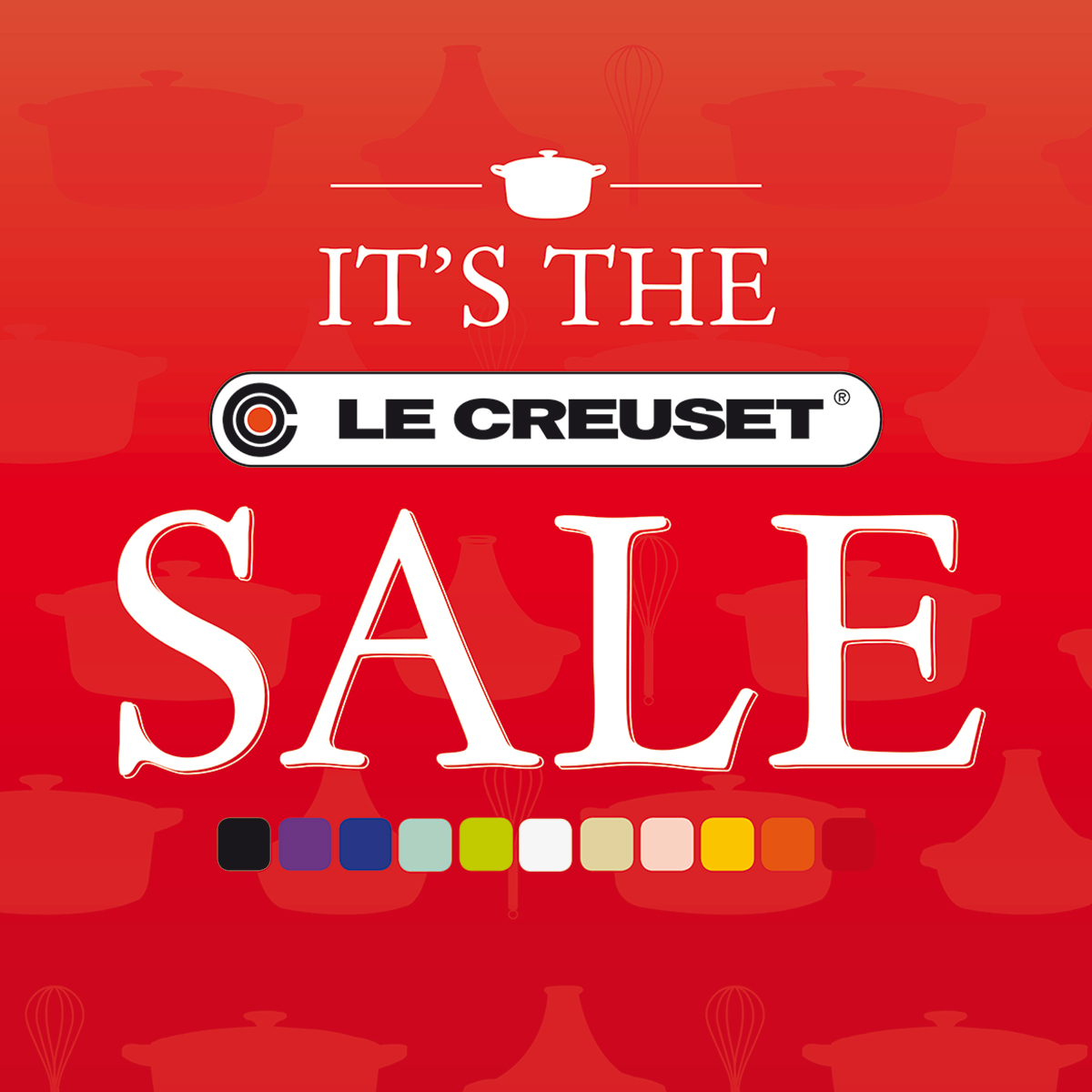 le creuset le creuset sale up to 40 off your favourites. Black Bedroom Furniture Sets. Home Design Ideas