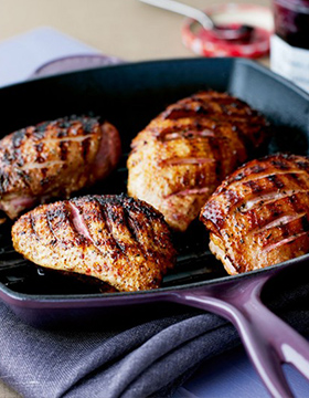 Seared Thyme Duck Breasts