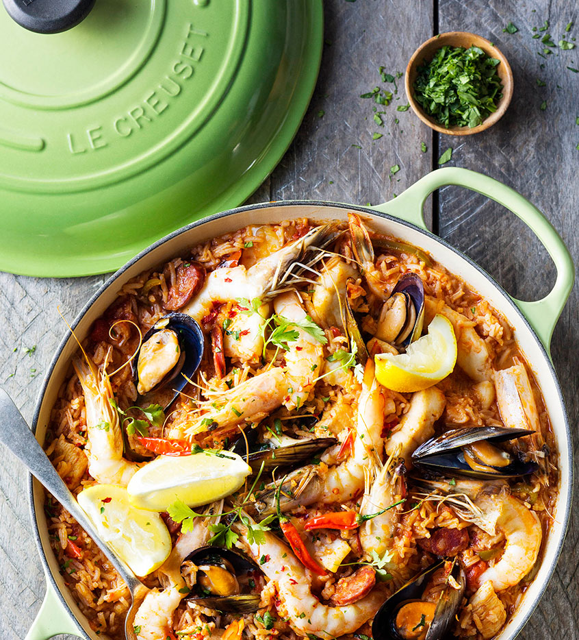 Seafood Paella Le Creuset Recipes