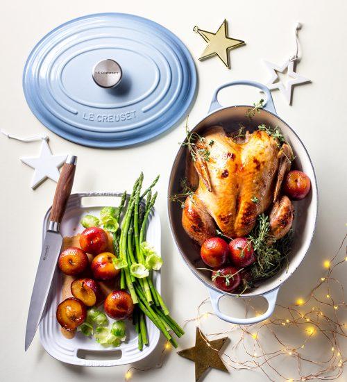 Roast Turkey with Sticky Roasted Plums
