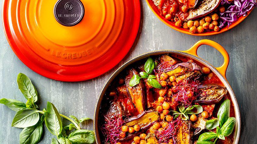 Vegan Brinjal, Chickpea & Tomato Slow Pot with Quinoa