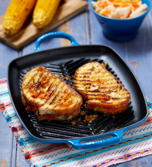 Grilled Cheese Sandwich with Kimchi