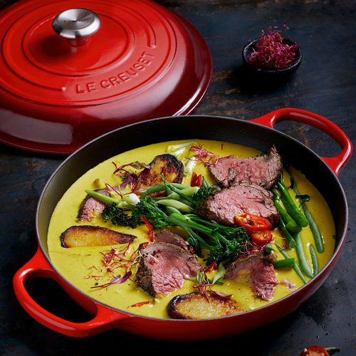 African Peanut and Seared Beef Fillet Curry