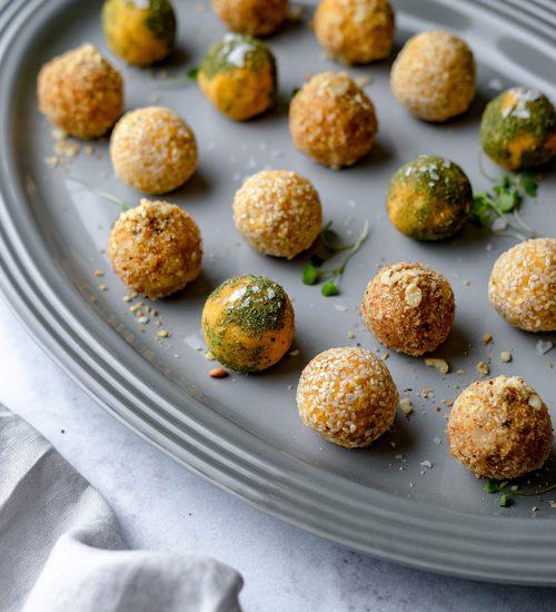 Sweet Potato Tahini Truffles