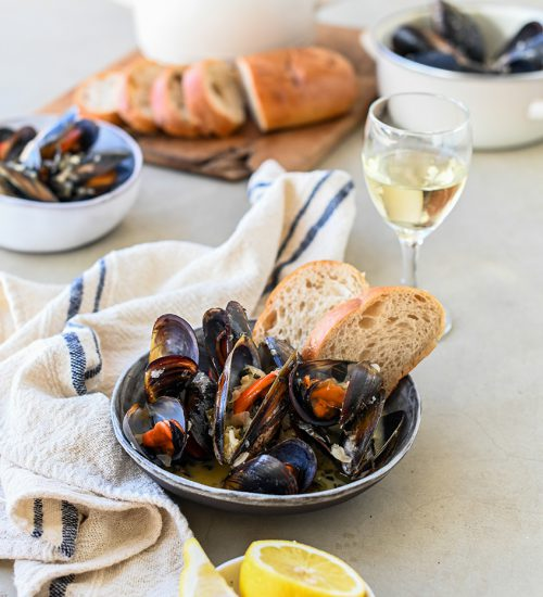 Creamy Mussels with Dune Sage