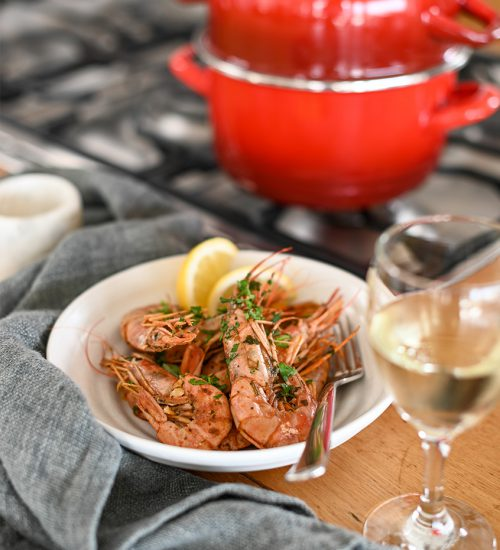 Steamed Prawns with Smoked Paprika Butter